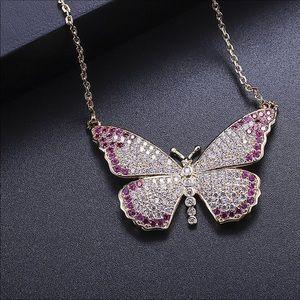 Jewelry - Cz butterfly necklace